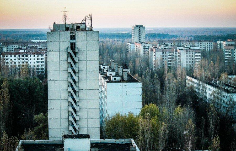 Шестнадцатиэтажка, расположенная в городе Припять. Самый большой дом в городе