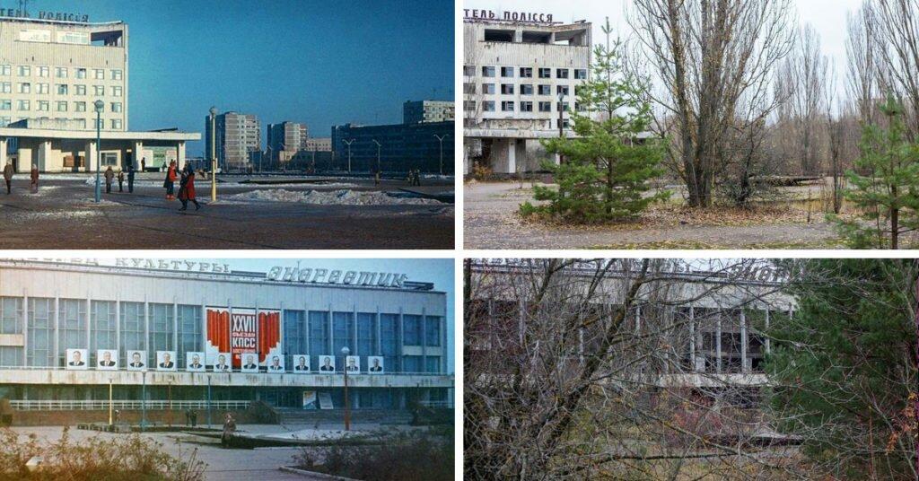 Чернобыль до и после аварии. Припять до и после аварии