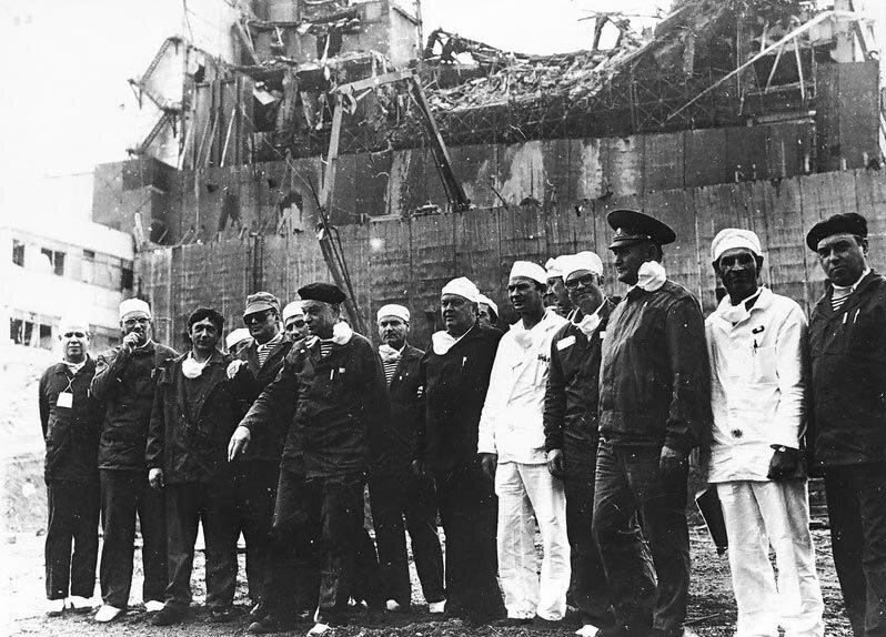 Военные ликвидаторы аварии на ЧАЭС фото