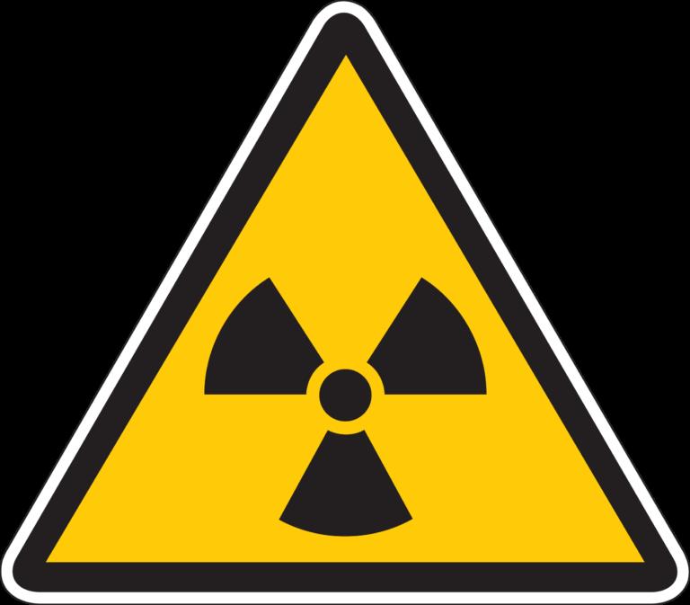 Знак радиации, радиоактивное заражение, символ радиации фото