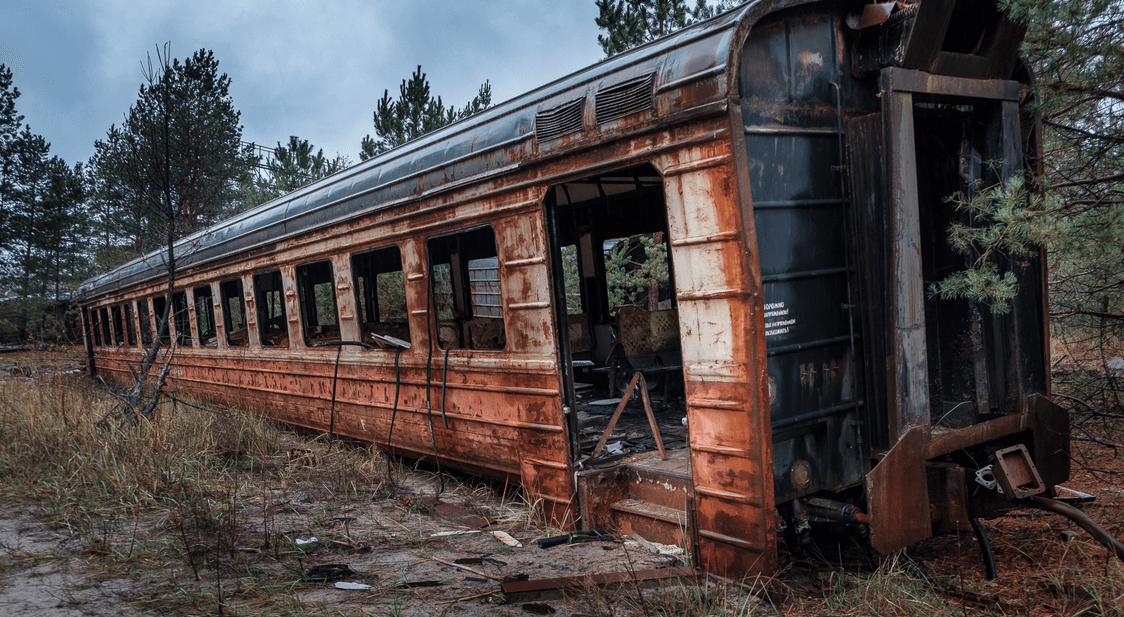 Припять станция Янов в реальной жизни