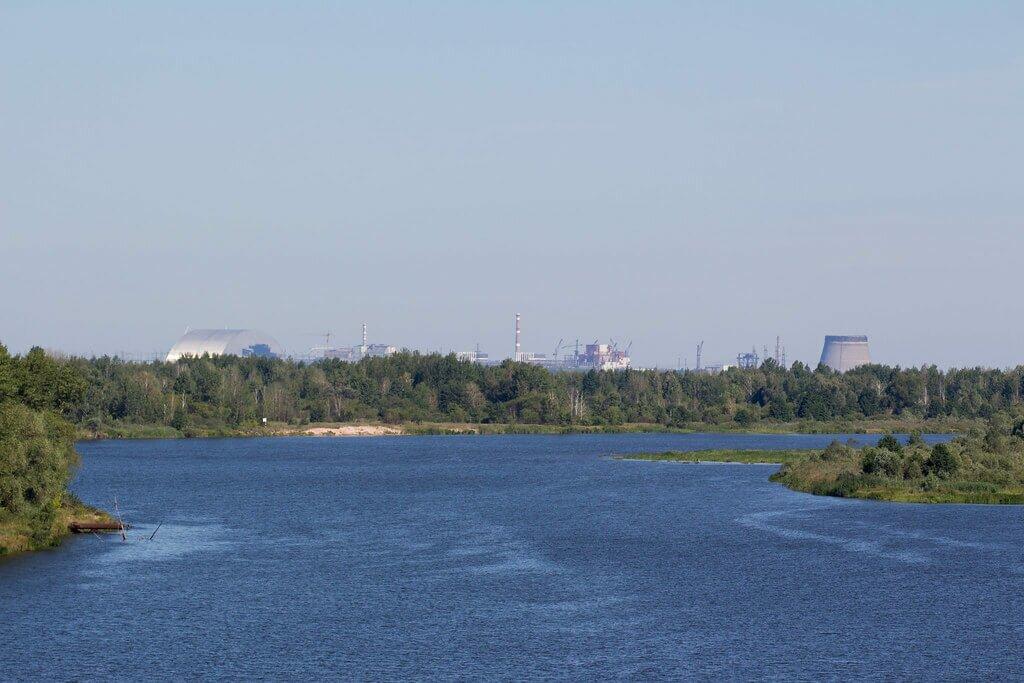 Река Припять в Чернобыле