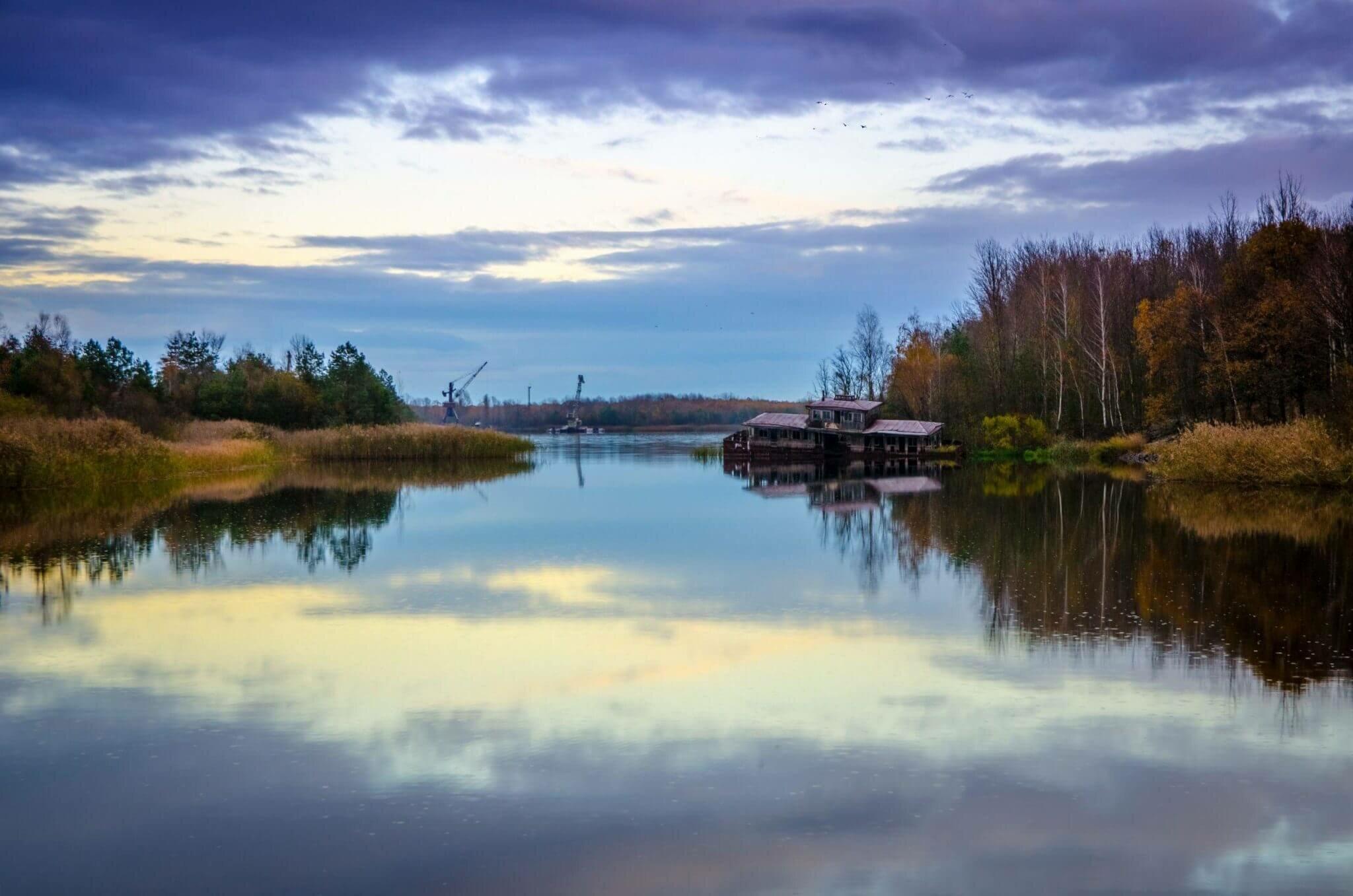 Река припять в Мозыре