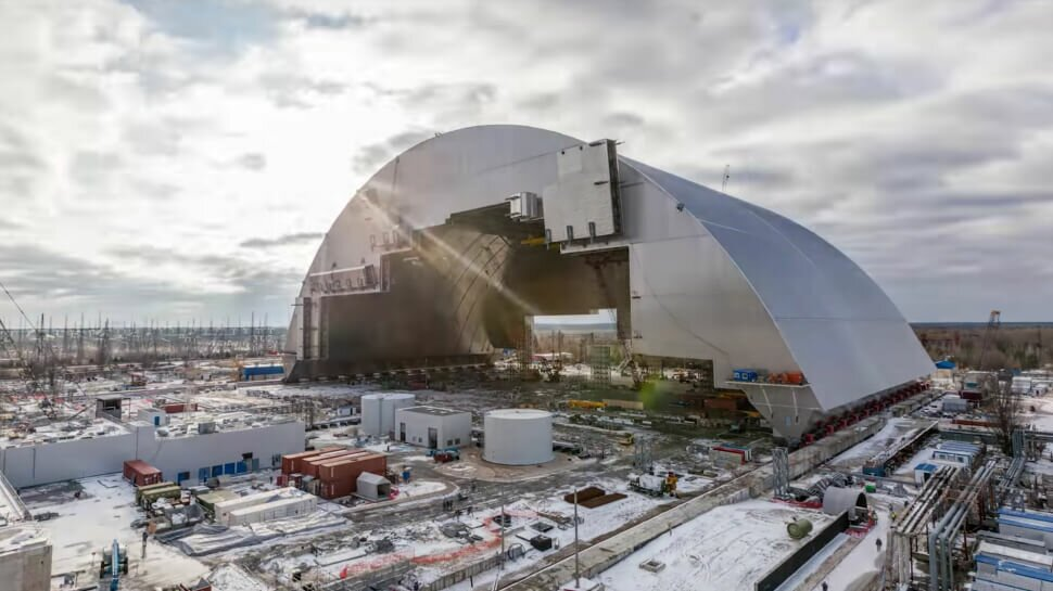 Чернобыль саркофаг фото
