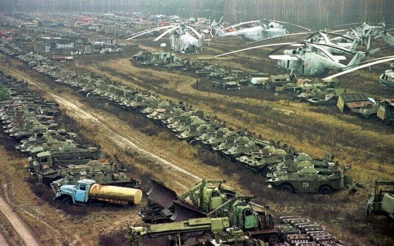 Заброшенная техника Чернобыля