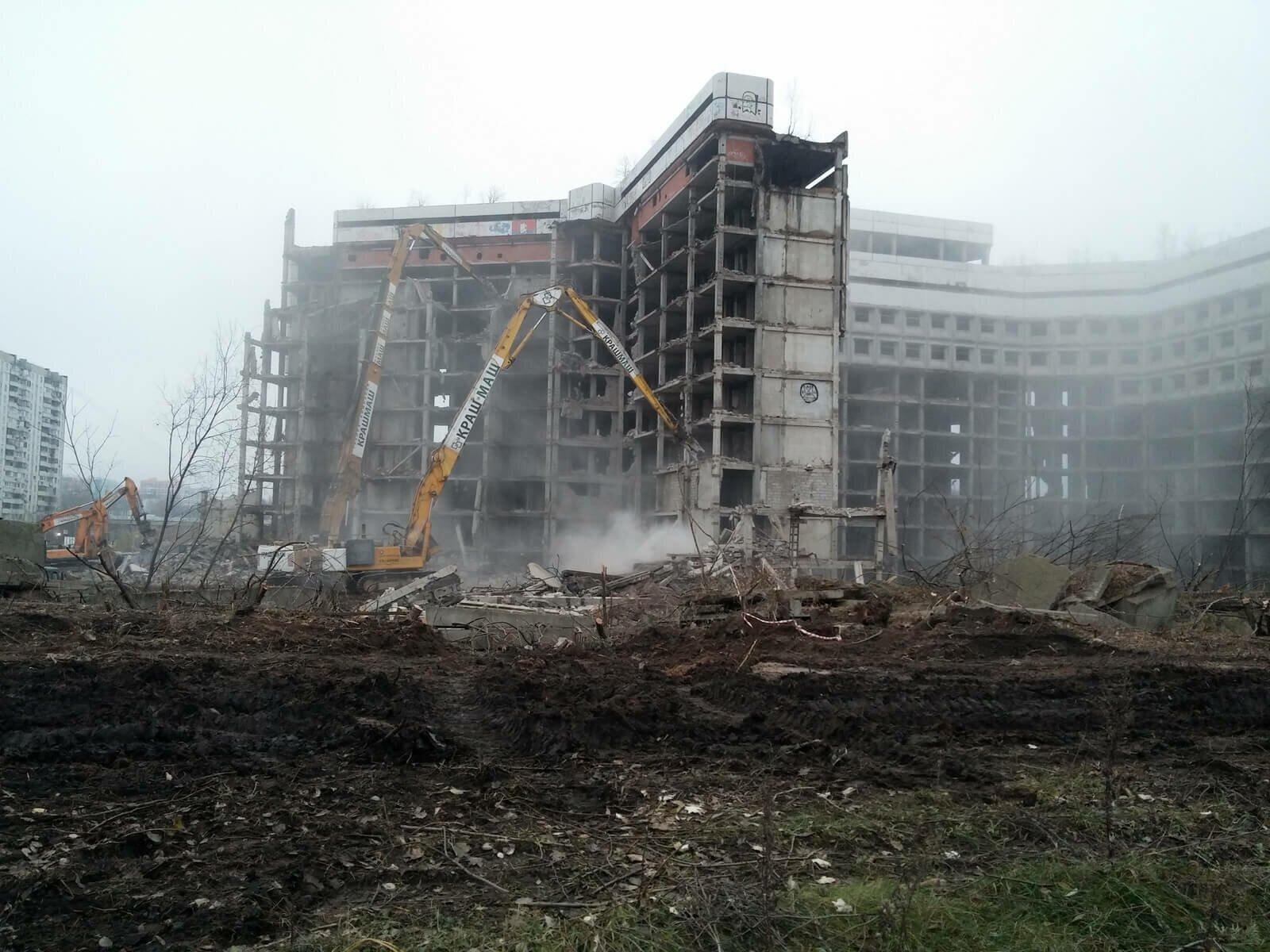 Ховринская заброшенная больница снесли