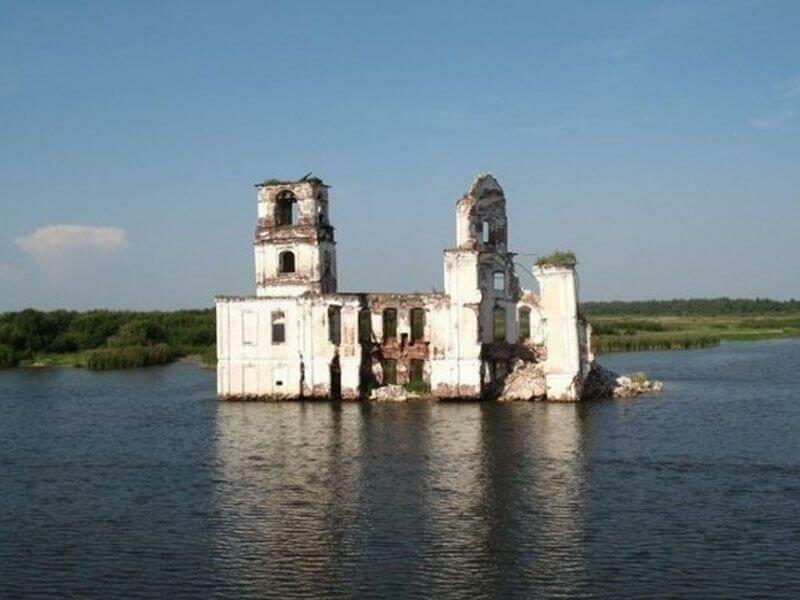 Молога затопленный город фото