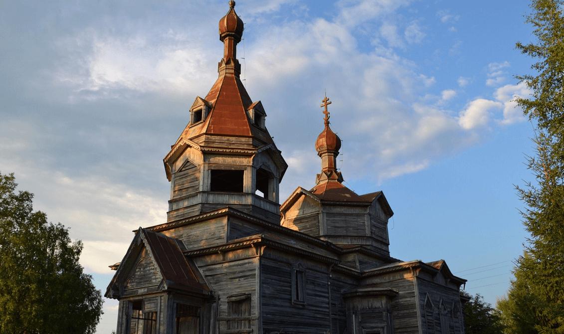 Спасо-Преображенская церковь в деревне Загубье фото