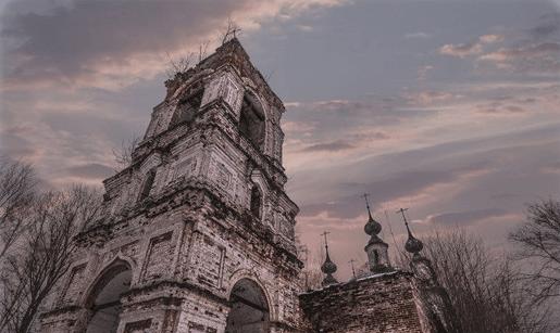 Заброшенная церковь Спаса Преображения (Владимирская область) фото